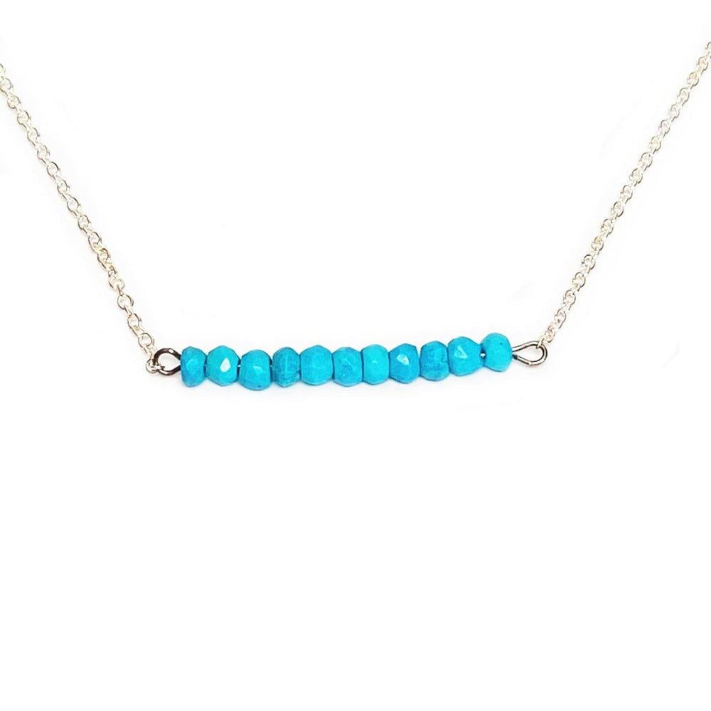 Turquoise Gemstone Bar Necklace