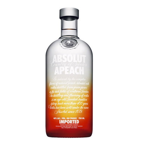 Absolut Apeach Flavoured Vodka Delivery - 70cl - Alcohol Delivery