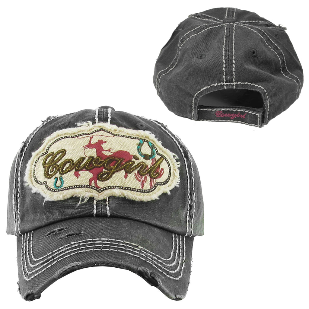Cowgirl Cap - Ropes and Rhinestones