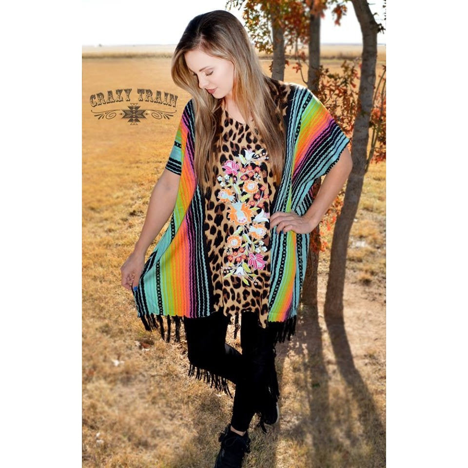 Serape Selena Poncho - Ropes and Rhinestones