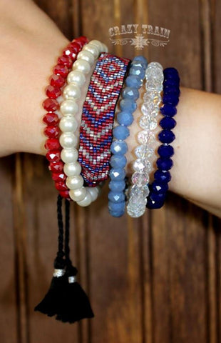 Americano Bracelet Collection - Ropes and Rhinestones
