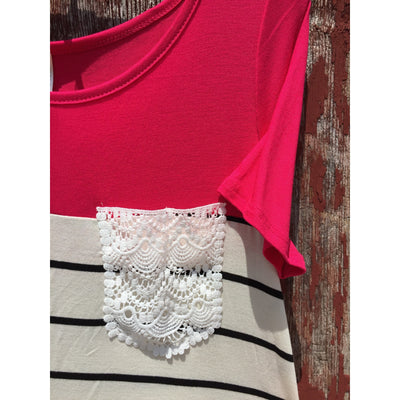 Lace Pocket Shirt - Ropes and Rhinestones