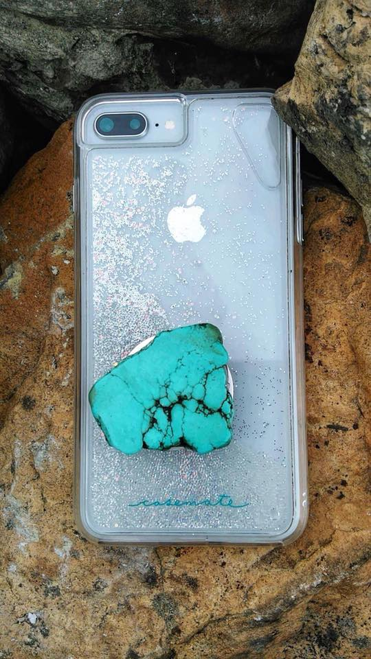 Turquoise Slab Phone Stand/Holder