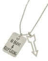 Be Brave & Keep Going Necklace - Ropes and Rhinestones