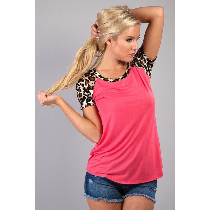 Leopard Tee - Ropes and Rhinestones