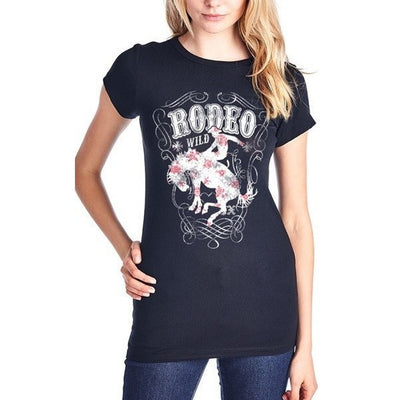 Rodeo Wild Tee - Ropes and Rhinestones