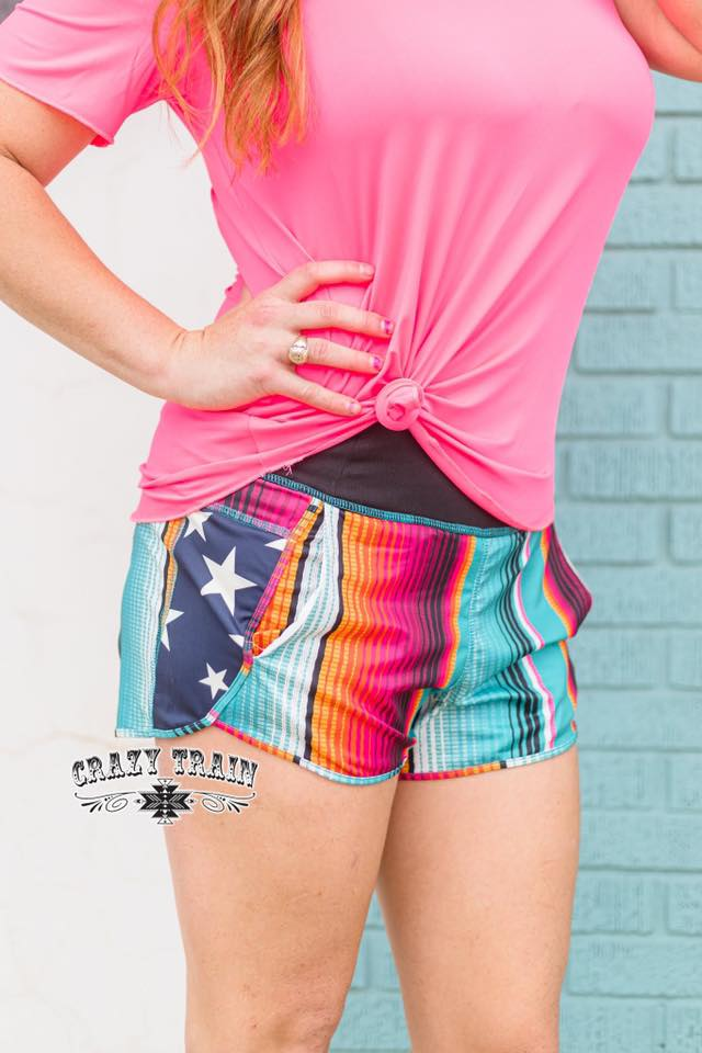 Star & Serape Shorts