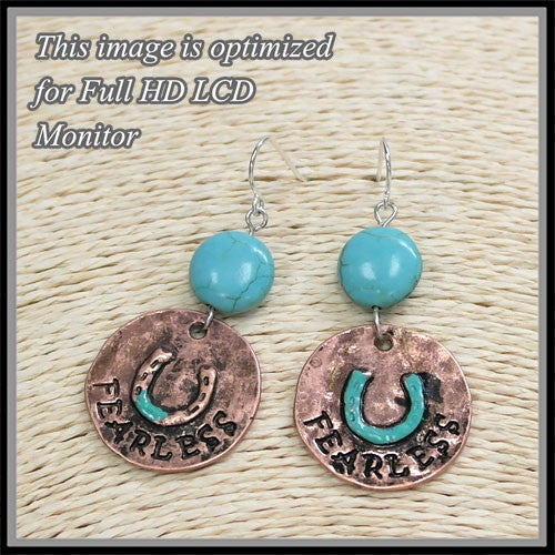 Fearless Horseshoe Earrings - Ropes and Rhinestones