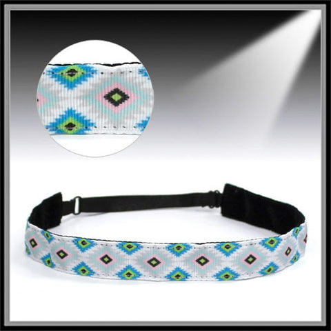 Aztec Adjustable Headband - Ropes and Rhinestones