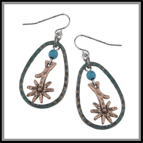 Spur Rowel Hoop Earrings - Ropes and Rhinestones