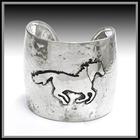 Running Horse Bangle Bracelet - Ropes and Rhinestones