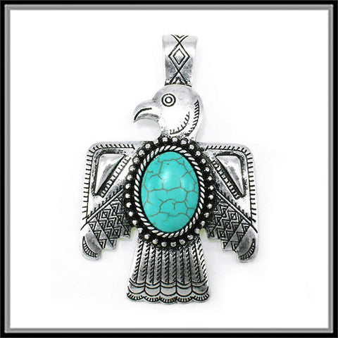 Thunderbird Turquoise Pendant - Ropes and Rhinestones
