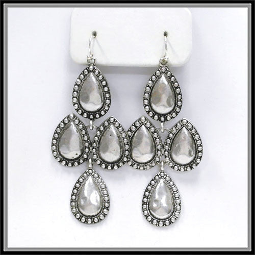 Studded Tear Drop Earrings - Ropes and Rhinestones