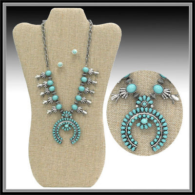 Squash Blossom Necklace - Ropes and Rhinestones
