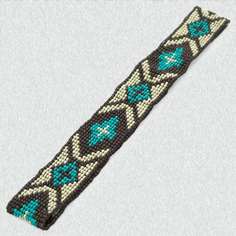 Aztec Beaded Headband - Ropes and Rhinestones