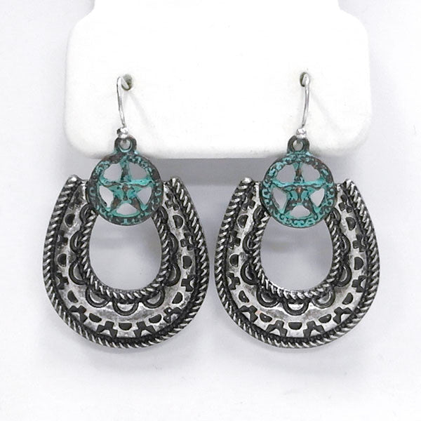 Horseshoe & Star Earrings - Ropes and Rhinestones
