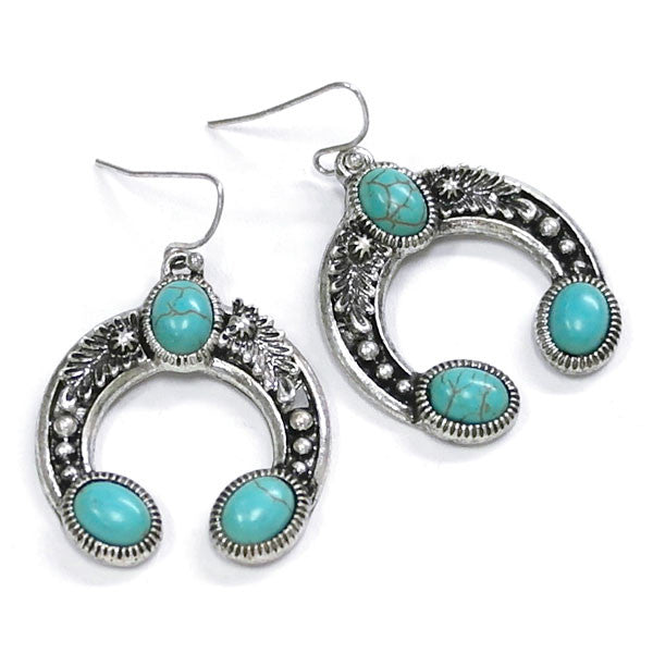 Naja Turquoise Earrings - Ropes and Rhinestones