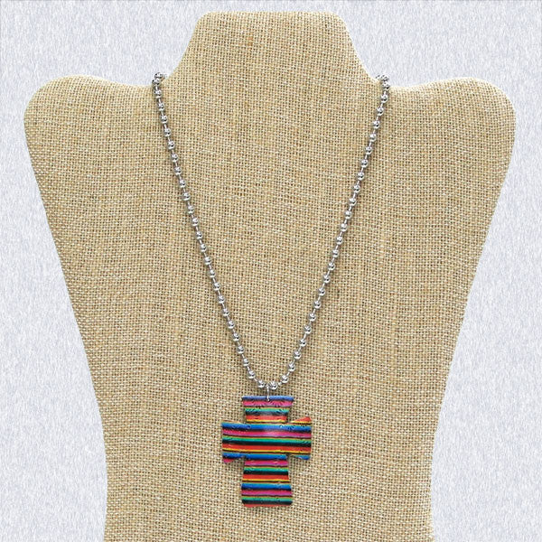 Serape Cross Necklace & Earrings