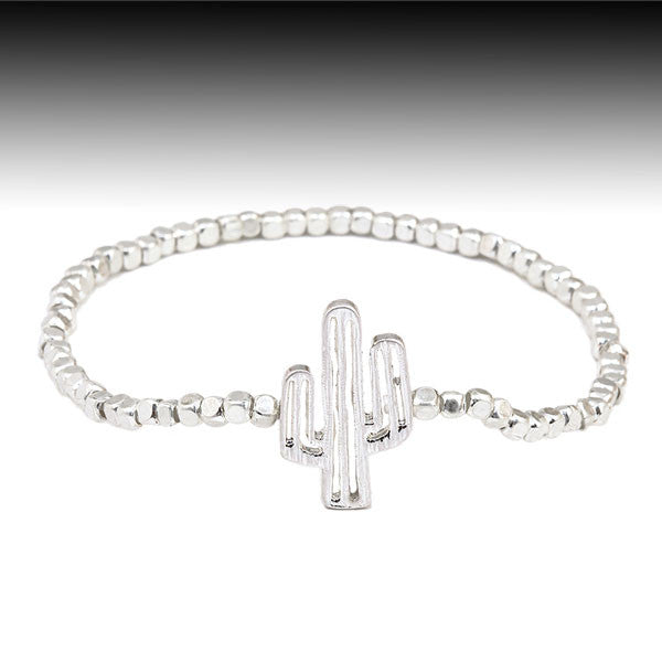 Cactus Stretch Bracelet - Ropes and Rhinestones