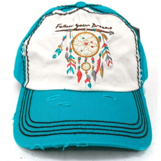 Follow Your Dreams Cap - Ropes and Rhinestones