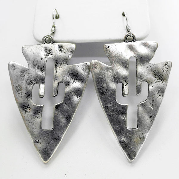 Cactus Arrowhead Earrings - Ropes and Rhinestones