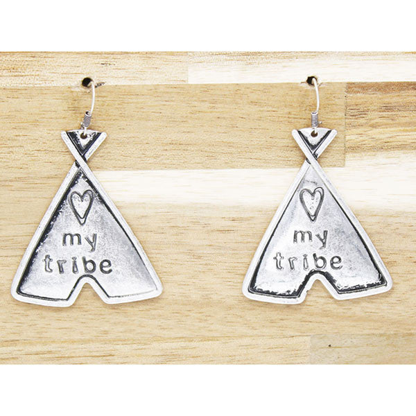 I Love My Tribe Earrings - Ropes and Rhinestones