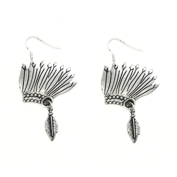 Indian Headdress Earrings - Ropes and Rhinestones