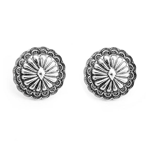 Concho Stud Earrings - Ropes and Rhinestones