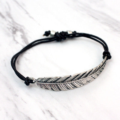 Feather Adjustable Bracelet