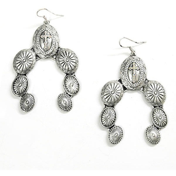 Naja Cross Earrings