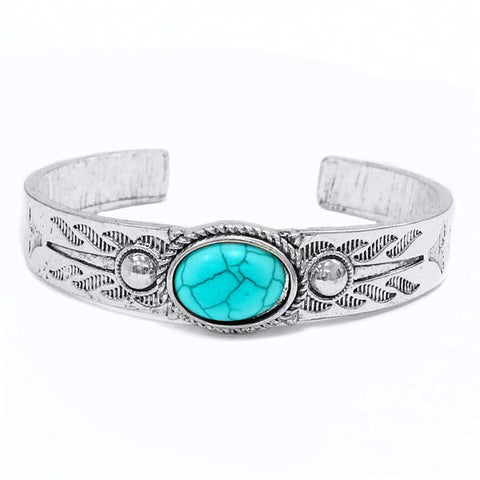 Single Shot Turquoise Bracelet