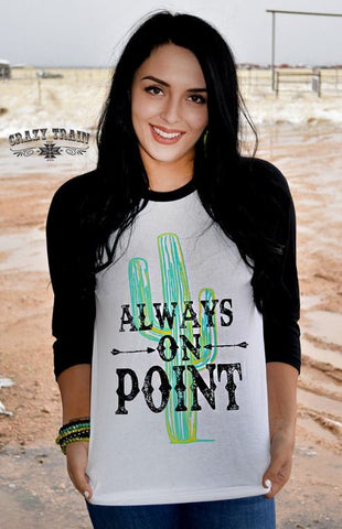 Always On Point Cactus Baseball Tee