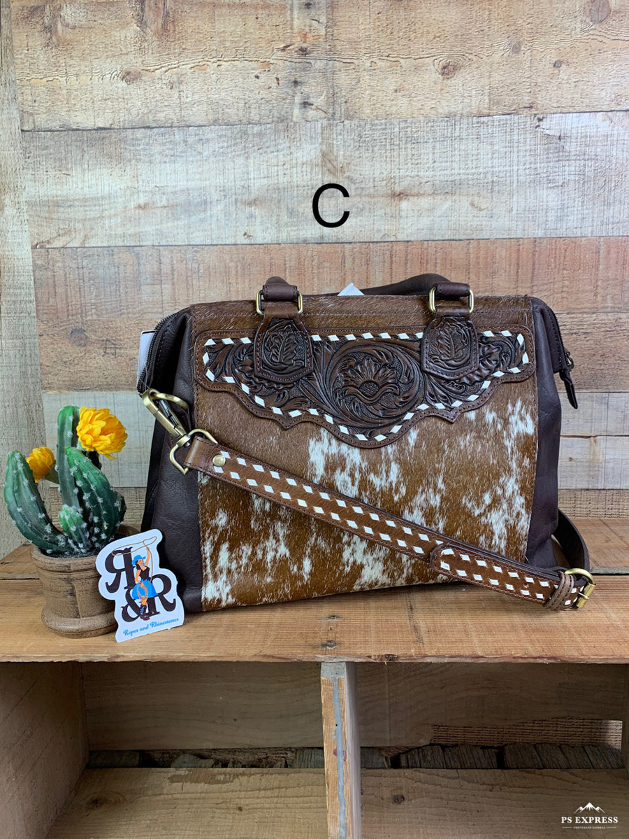 Buck Stitch Doctor's Cowhide Tote