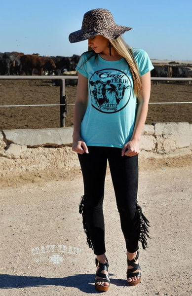 Cattle Company Tee - Ropes and Rhinestones