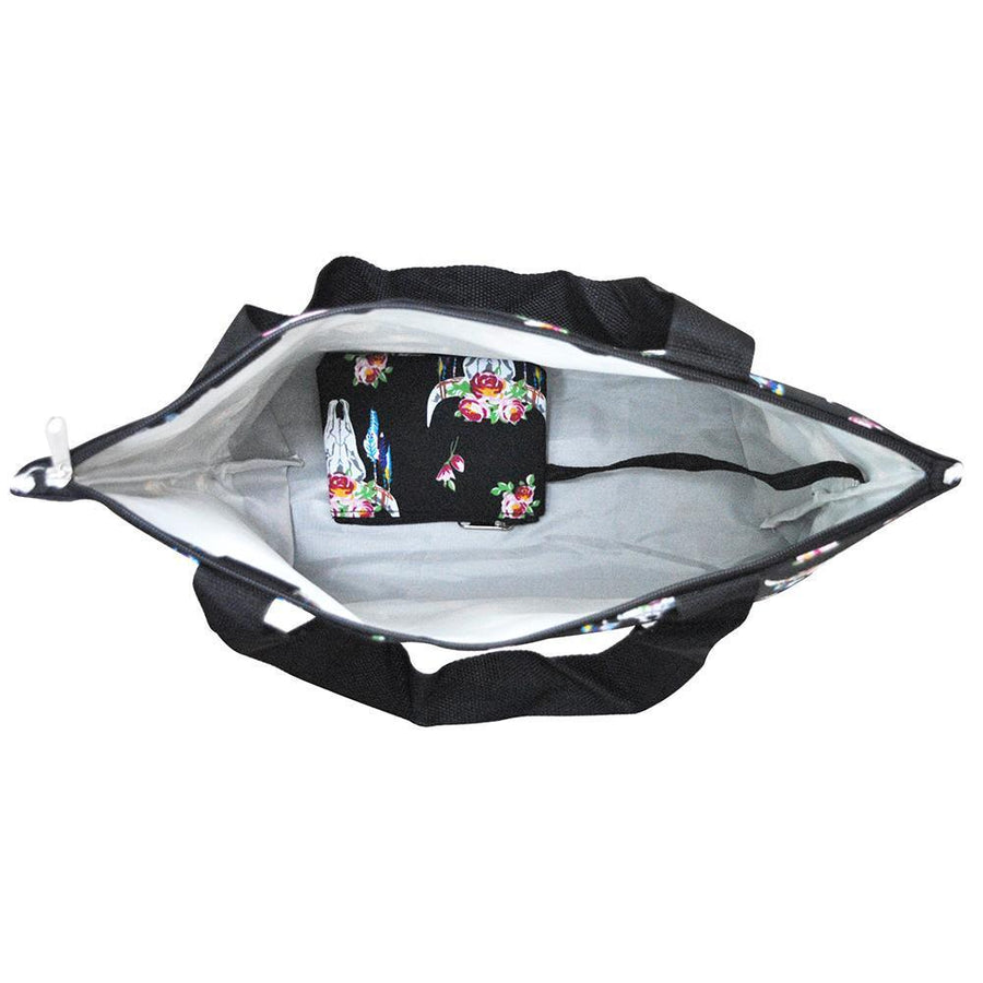 Bull Skull Travel Tote Bag