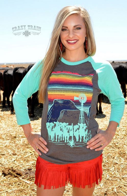 Cattle Kate Baseball Tee - Ropes and Rhinestones