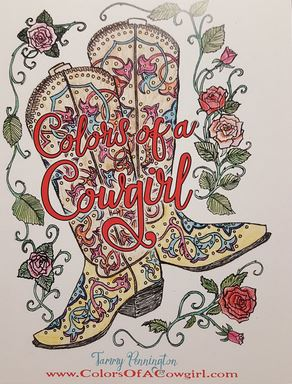 Colors Of A Cowgirl Coloring Book - Ropes and Rhinestones