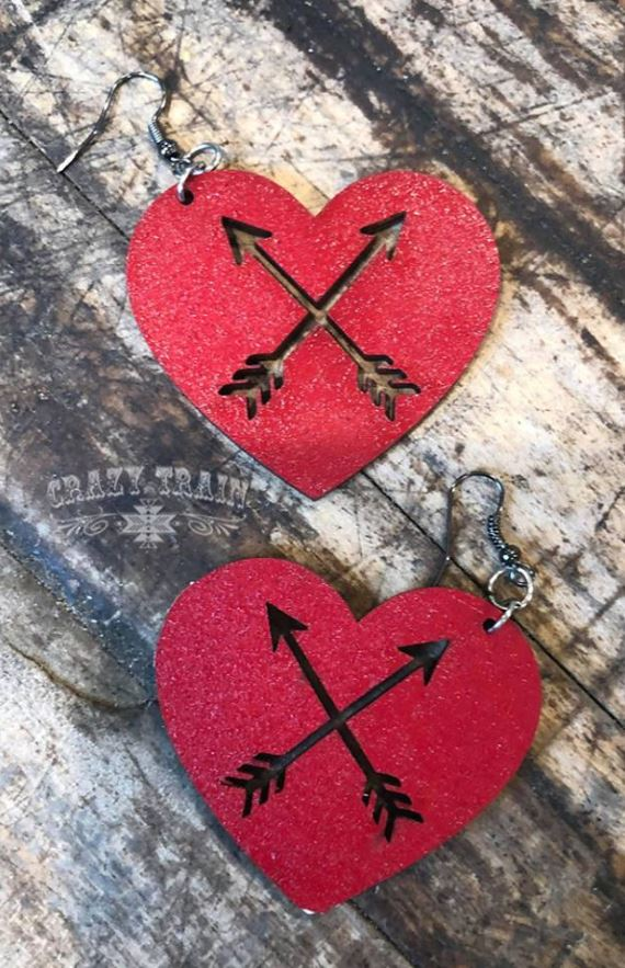 Cupid's Arrow Earrings - Ropes and Rhinestones