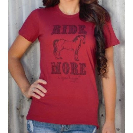 Ride More Tee - Ropes and Rhinestones