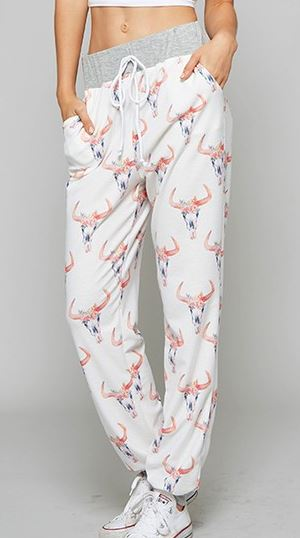 Cow Skull or Cactus Lounge Pants