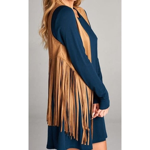 Fringe Vest - Ropes and Rhinestones