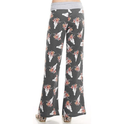 Steer Skull Pants - Ropes and Rhinestones