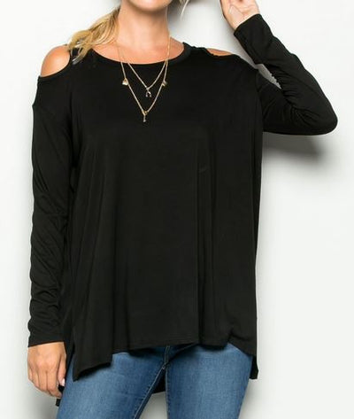 Cold Shoulder Top - Ropes and Rhinestones