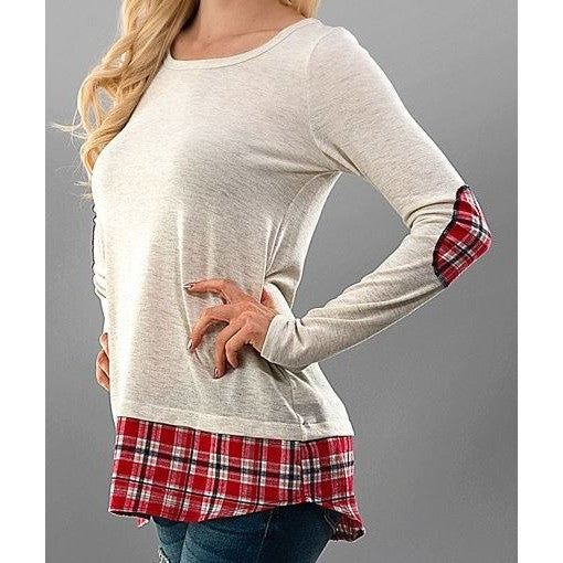 Plaid Elbow Patch Shirt - Ropes and Rhinestones