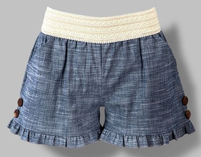 Chambray Shorts - Ropes and Rhinestones
