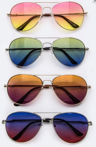 Aviator Sunglasses Gradient Lens