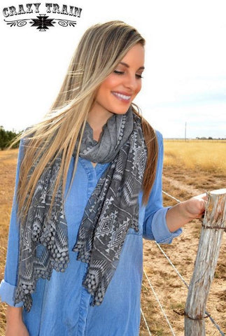 Armadillo Crazy Train Scarf - Ropes and Rhinestones