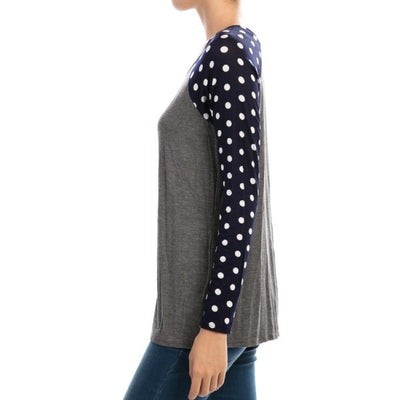 Polka Dot Party Shirt - Ropes and Rhinestones