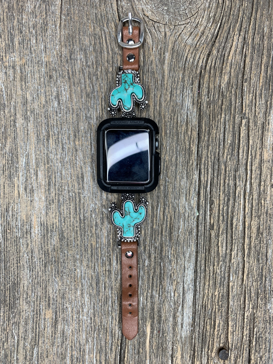 Turquoise Cactus Apple Watch Band