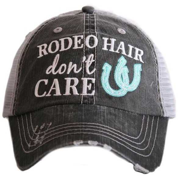Rodeo Hair Don't Care Cap - Ropes and Rhinestones